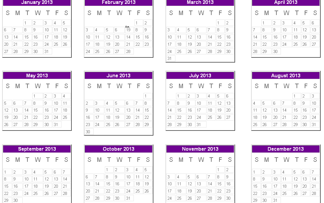 """2013 Calendar """"free"""" download from CMI!"""