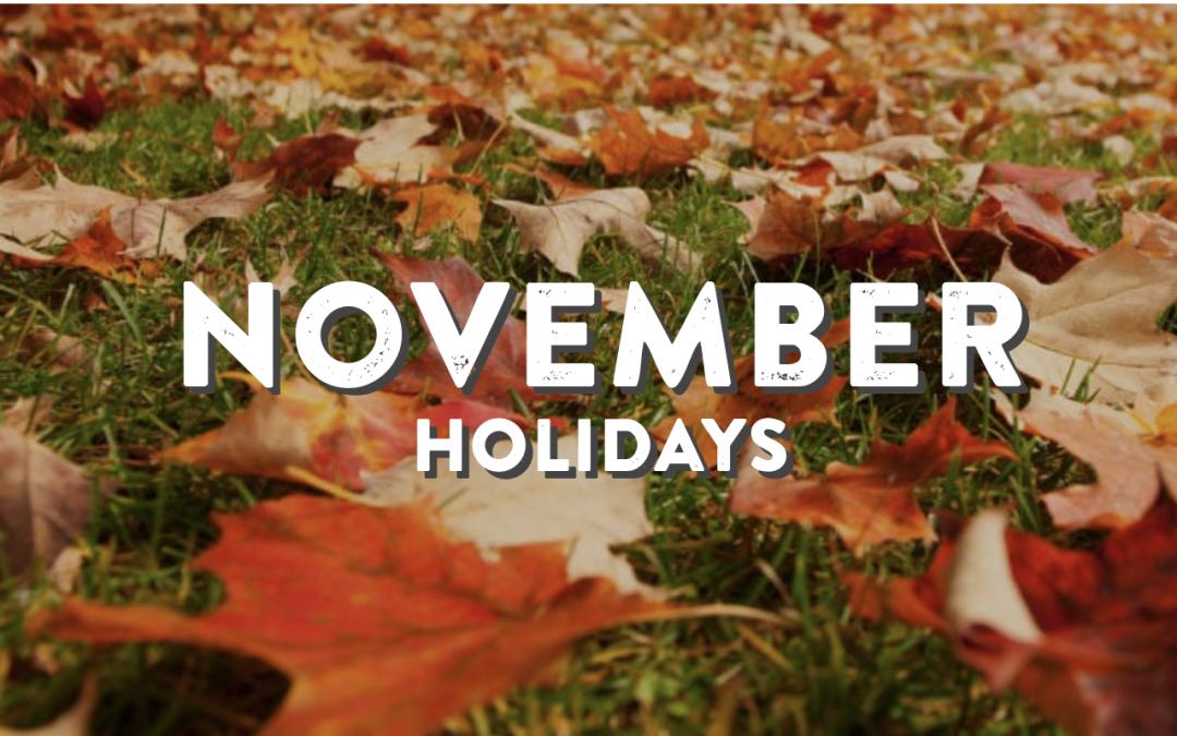 November Holidays, 2020